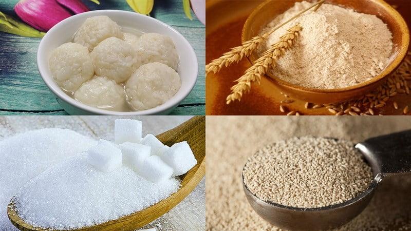 Nguyên liệu làm bánh mì cơm rượu